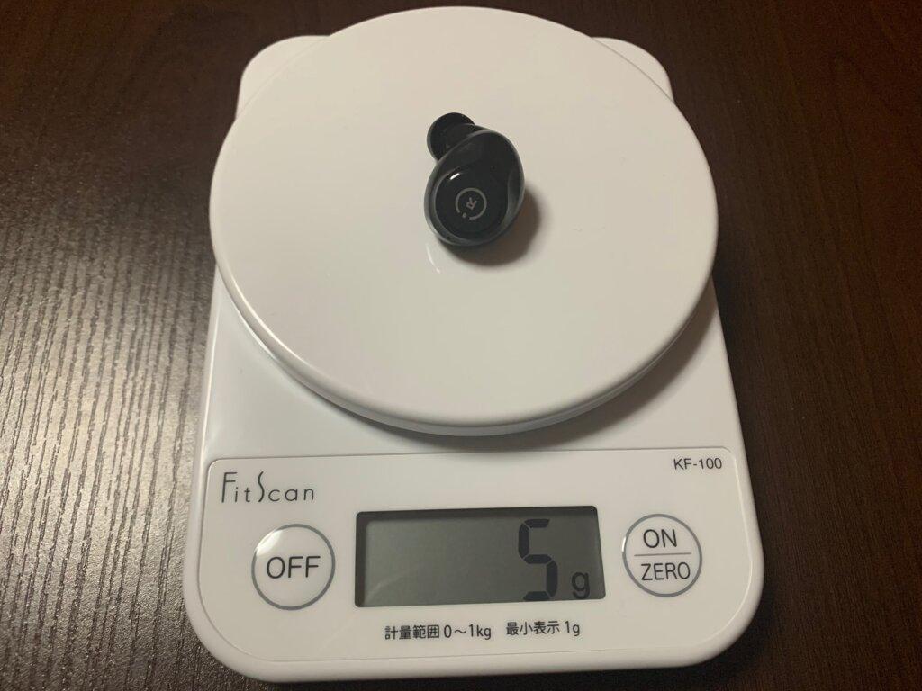 ENACFIRE E60 イヤホン重量