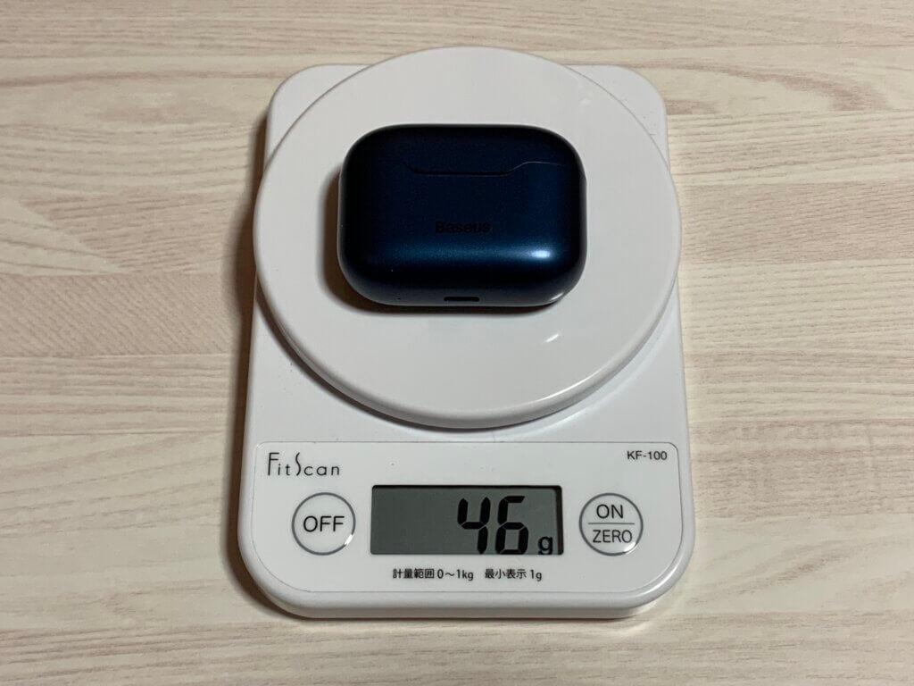 Baseus S1 Pro ケース重量
